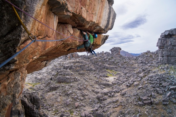 Jimbobob mid rail on Whipper Taal's 2nd pitch